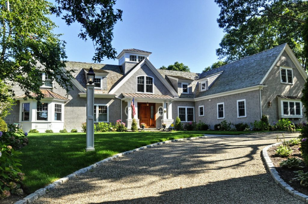 Front exterior view of major renovation of Cotuit house by Lagadinos Building and Design